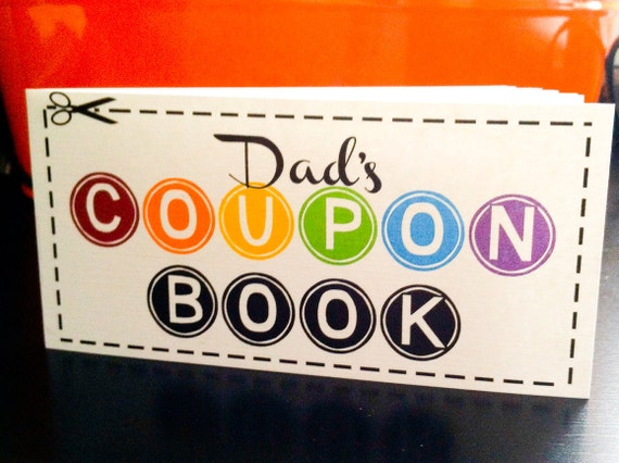 Father's Day Gift - Dad's Coupon Book - 12 coupon notepad