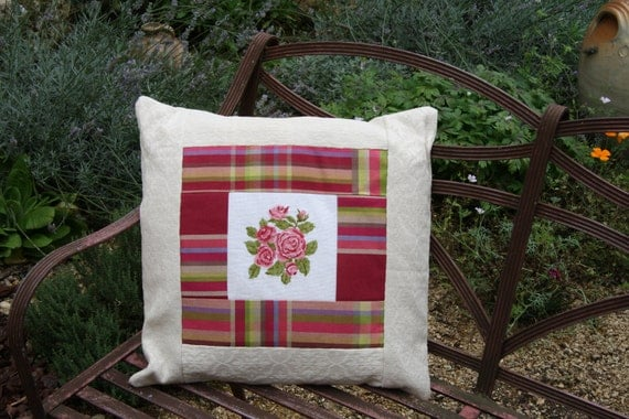 Beautiful French Tapestry Rose Cushion