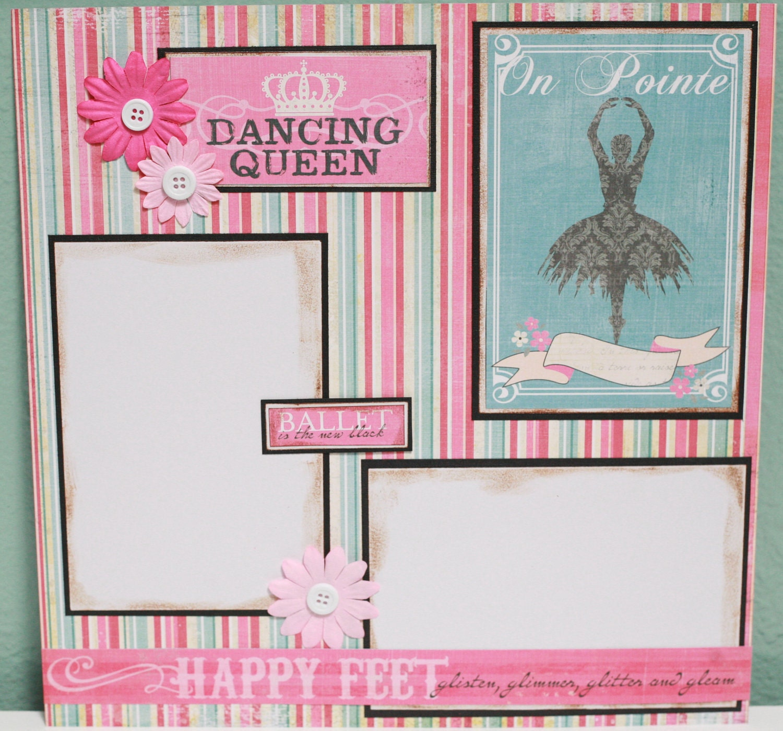 Ballet Scrapbook Layouts