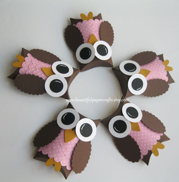 Owl baby shower table decor photograph brown and pink owl for Baby owl decoration