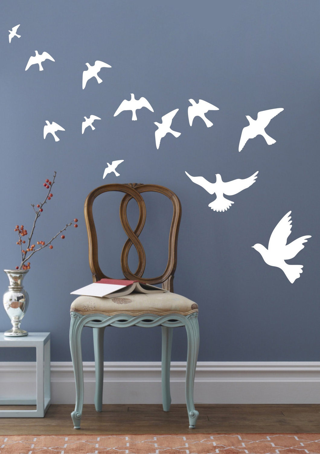 Peace Pigeons Birds Wall Decals Wall Stickers Vinyl by looksbetter