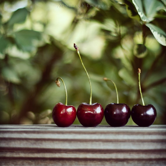 50% OFF Cherries - 5x5  Original Signed Fine Art Photograph - SUMMER