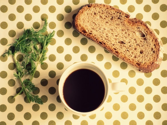 Breakfast - 8''x6'' Photo- 20x15 Photograph - Still Life Kitchen Home Wall Decor Decoration - Meal Food Green Bread