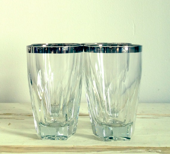 Silver Linings Vintage Glass Set of Four