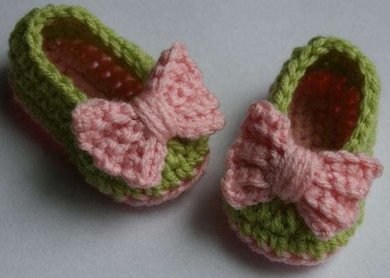 قلاب دوزی عزیزم کفش booties دمپایی باله دمپایی نوزاد دختر صورتی و آهک سبز دمپایی کفش