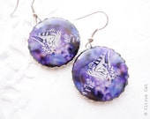 Purple butterfly earrings - summer jewelry - CitrusCat