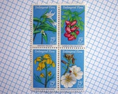 Vintage un-used - Endangered Flora - postage stamps to post 5 letters - packandpost