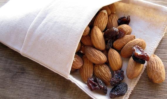 Reusable Eco Friendly Mini Snack Bag -- Organic Unbleached Muslin