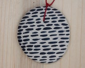 Ceramic pendant discontinuous lines - NuriNegreCeramics
