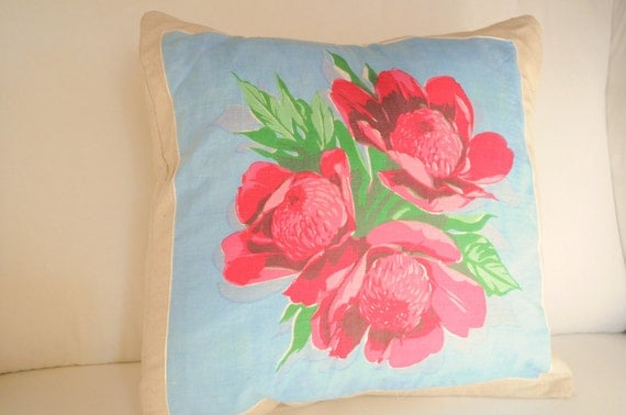 Vintage Hanky Pillow Covers- RESERVED for Amy