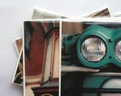 Tudor City Photography Greeting Cards - Teal Vespa - labopapier