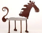 Giddyup Horse Whimsical Garden Sculpture - EarthStudioMetalArt