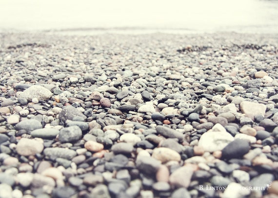 Beach Photography - Ocean Photograph - 5x7 Fine Art Photography Print - Gray White Home Decor