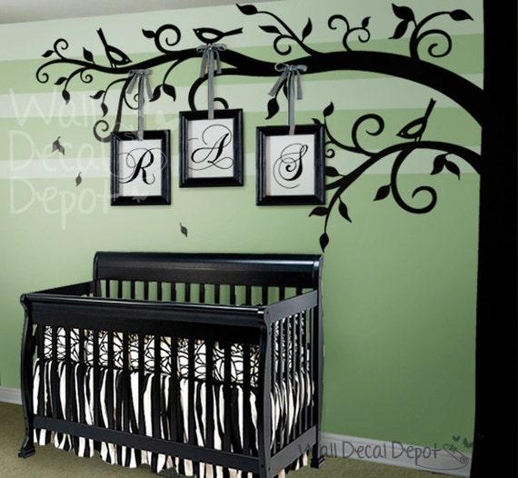 Tree Wall Decal  nursery wall decal - Corner Tree - 33