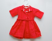 Vintage 1950s girl's red belted party dress - PotatoCakeVintage