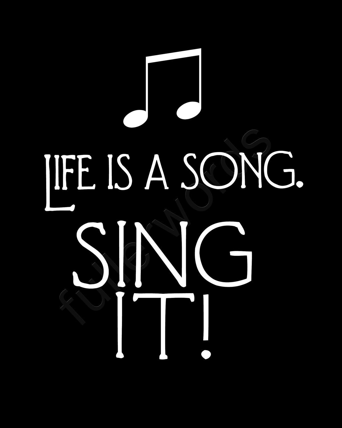 Musical Love Quotes: Singing Quotes Pinterest. QuotesGram