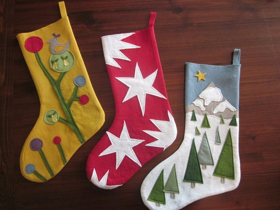 Wool Felt Christmas Stockings