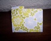 Blue/Green/White Flower Folder