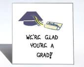 Graduation Gift Magnet, Graduate quote, Navy Blue Cap, Tassel, Diploma