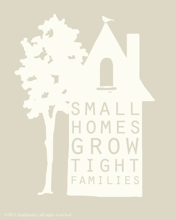 "Small Homes - 11x14"" - Birthday gift"