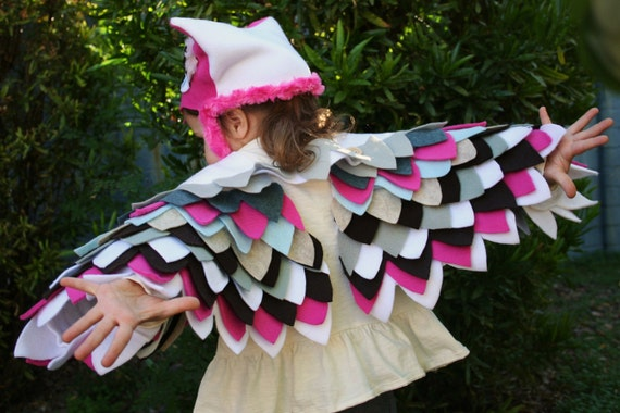Owl Costume in Pink- Imagination Play- Dress Up- Halloween