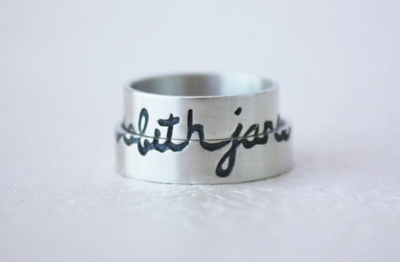 custom wedding bands by Tere Reyes @ Etsy.com