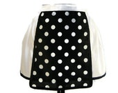 Oh Lucy - Polka Dot Retro 50's Kitchen Classic Half Apron Upcycled Fabric-TAGT