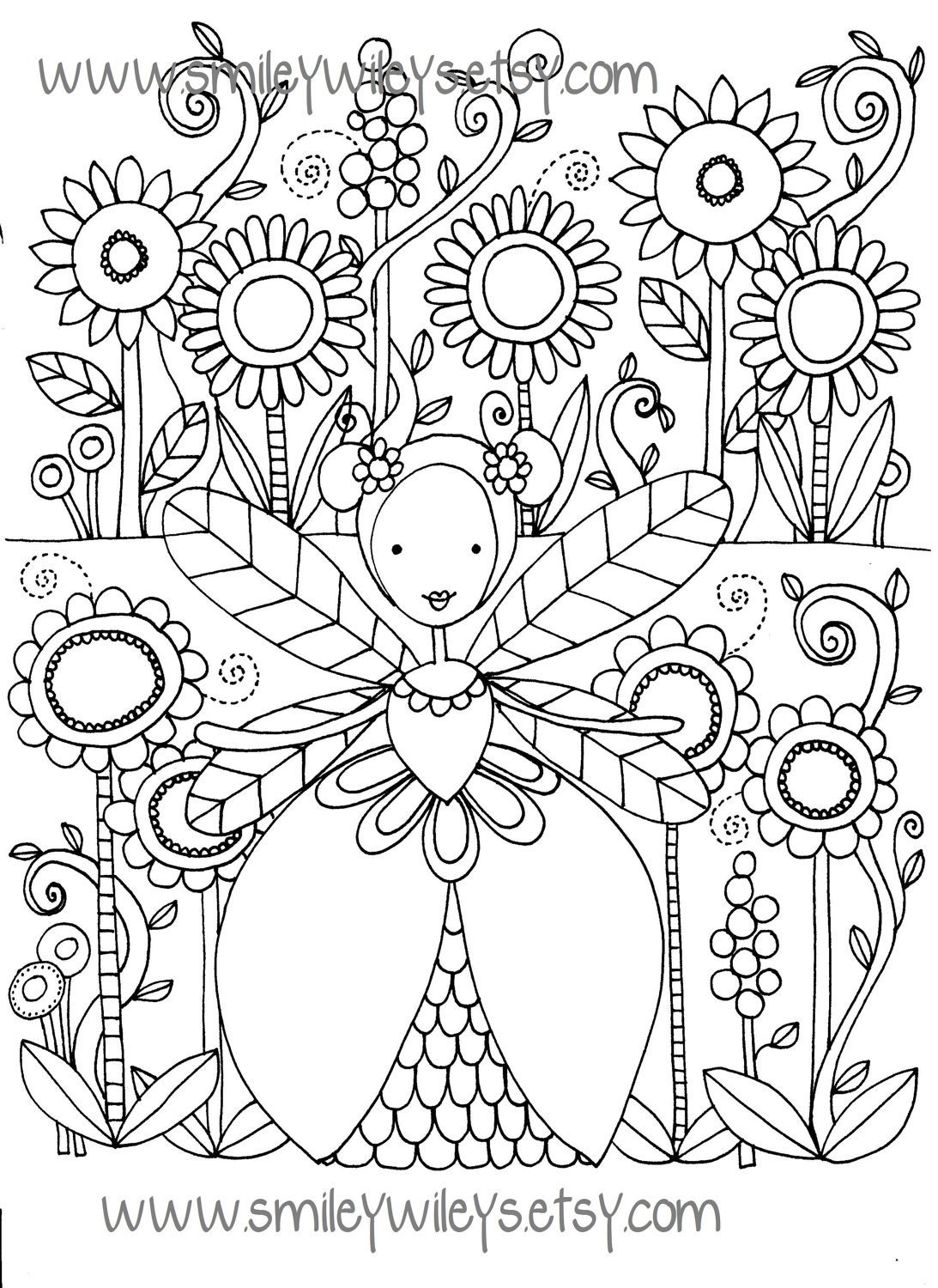 Very Detailed Fairy Coloring Pages Coloring Pages
