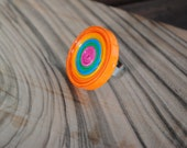 Quilled Multicolor Paper Ring