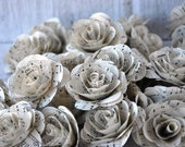Vintage Music Sheet  Paper Roses for Weddings and Craft Projects - etcPAPERetc
