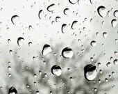 ACEO Raindrops Black and White Photography Print - LTphotographs