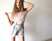 Feminine Top with Short Sleeves,Casual Chic Women Top, Pink - BLUSHFASHION