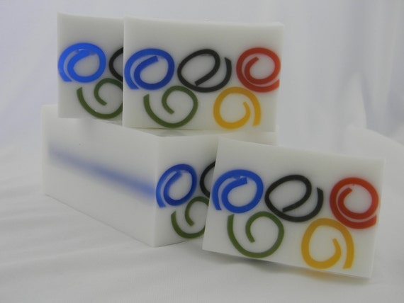 Olympic Rings inspired Soap - London Olympics - special olympics - 2012 olympics - olympics party