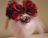 Roses and Feather Ornament