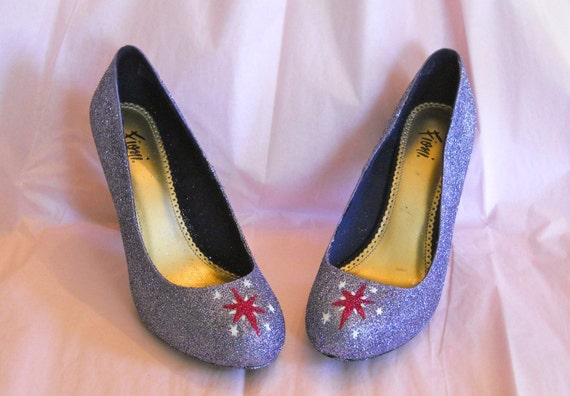 Twilight Sparkle MLP Glitter Shoes