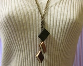 Triple Miniature Leather Book Necklace - TheBookCellar