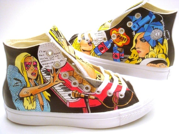 Lady Gaga Converse (Hand Painted)