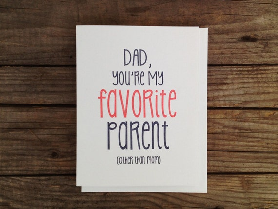 Father's Day Card - My Favorite Parent