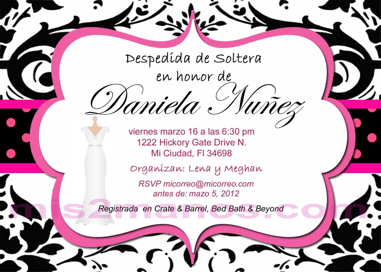 Invitaciones Para Despedida De Soltera