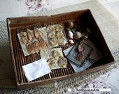 The roasted Squid Cuttlefish & grilled seafood, File Fish set- handmade Miniatures - DollhouseAra