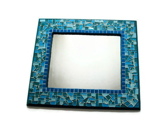 Mosaic Wall Mirror Wall Art Blue Turquoise By