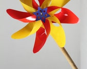 Vintage Pinwheel in Red and Yellow - SnootieBooty