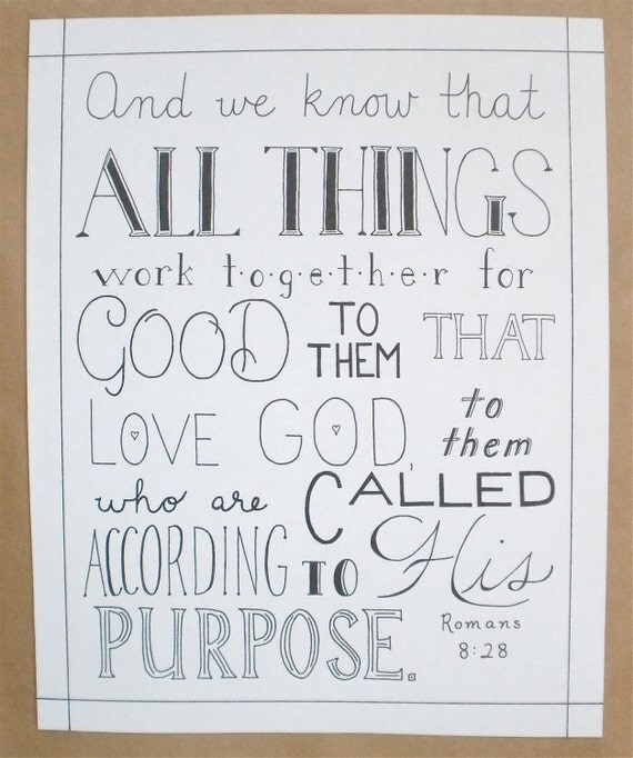 All Things Hand Lettered Typography Bible Verse