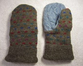 Adult Size Mittens - Square Spotted - ZenFrogCreations