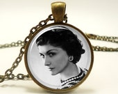 Coco Chanel Necklace,  French Fashion Designer and Founder of Chanel, Bronze (0521B1IN)