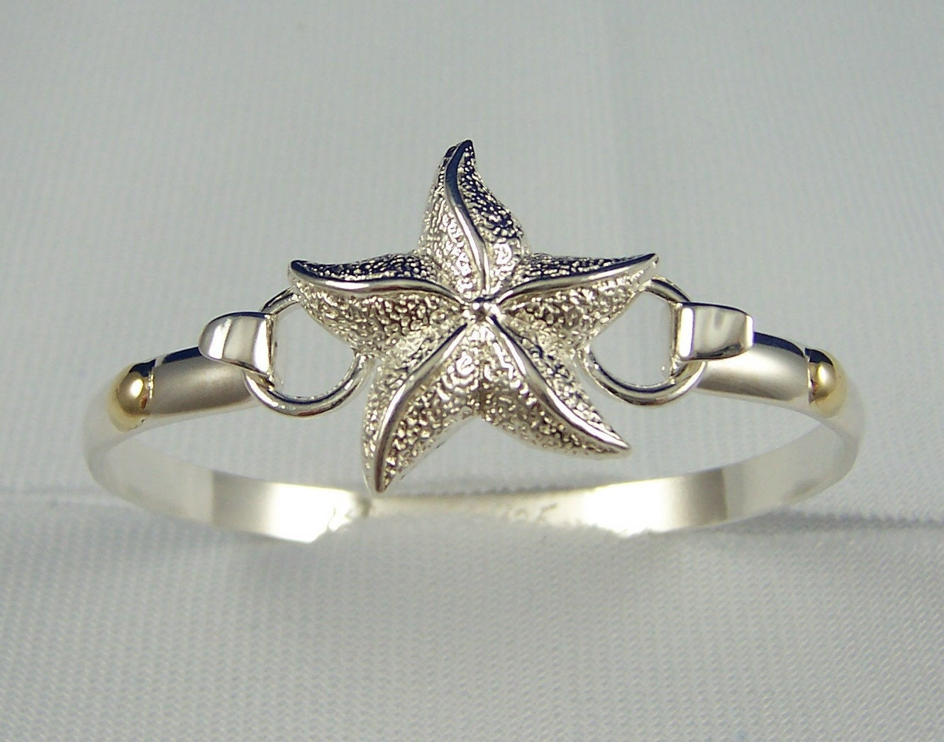 Cape  Bracelets on Cape Cod Convertible Starfish Bracelet Sterling Silver With 14k Gold