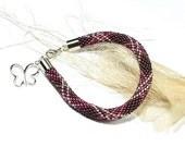 Beaded Bracelet. Bead Crochet Rope.Beads. Seed Beads. Toho. Purple bracelet. - ArtStyleBizu