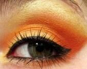 Mineral eyeshadow set - Orange eyeshadow - Yellow eye shadow - Organic mineral makeup - ForestNine