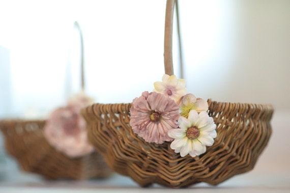 Rustic Flower Girl Basket for Wedding