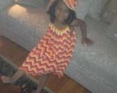 Chevron Print Toddler Dress